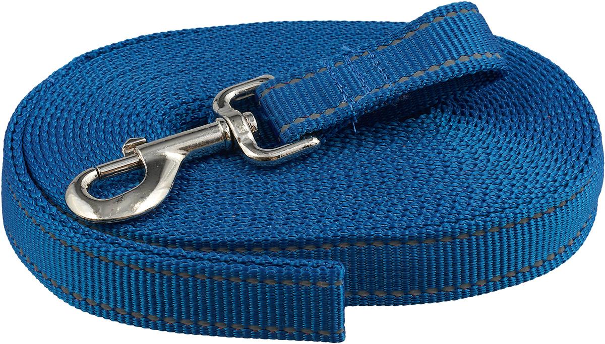 Поводок капроновый для собак Аркон, ширина 2,5 см, длина 7 м поводок капроновый для собак аркон цвет розовый ширина 2 см длина 5 м