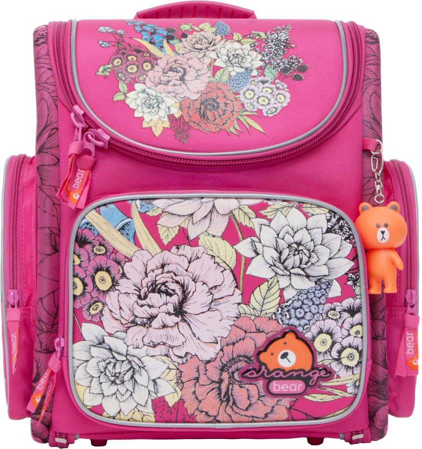 Orange Bear Рюкзак школьный Flowers цвет розовый