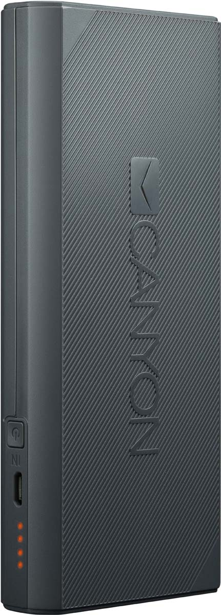Фото - Canyon CNE-CPBF100DG, Dark Grey внешний аккумулятор (10000 мАч) аккумулятор