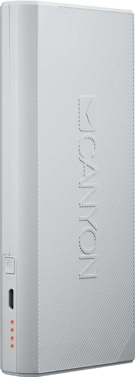 Фото - Canyon CNE-CPBF130W, White внешний аккумулятор (13000 мАч) аккумулятор