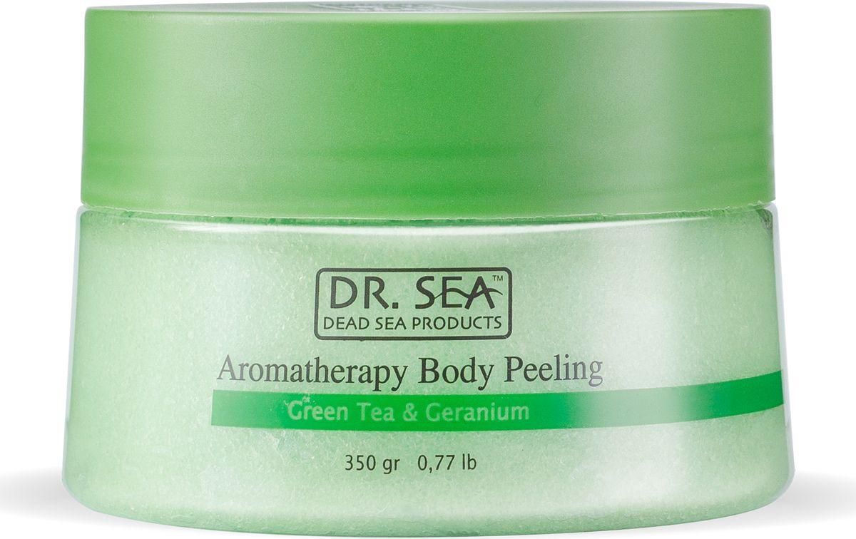 Ароматический пилинг для тела Dr.Sea, с экстрактом зеленого чая и маслом герани, для всех типов кожи, 320 г