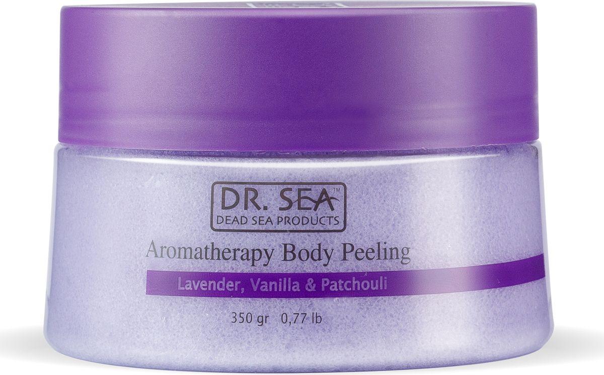 Ароматический пилинг для тела Dr.Sea, с маслами лаванды, ванили и пачули, для всех типов кожи, 350 г