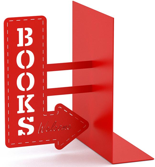 Держатель для книг Balvi BookShop, красный