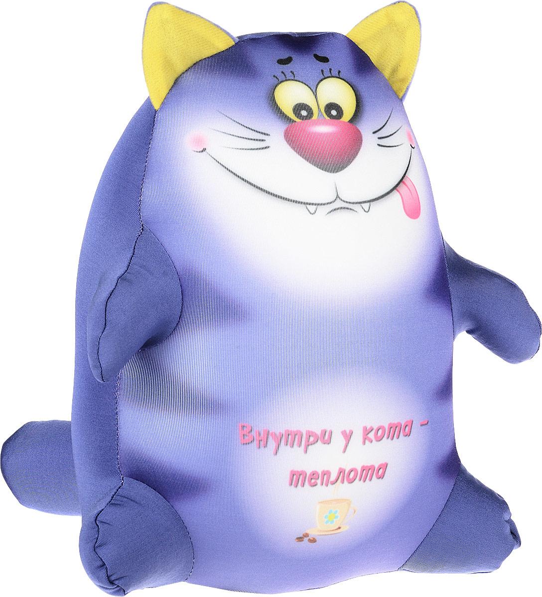 Штучки, к которым тянутся ручки Подушка-игрушка антистрессовая Котики Обормотики цвет сиреневый