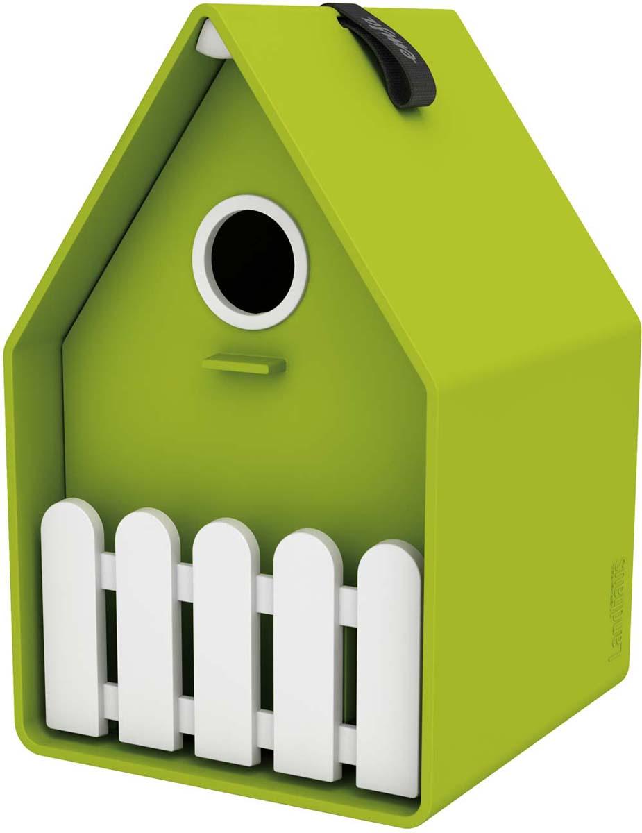 Скворечник Emsa Landhaus, цвет: салатовый, белый, 15 х 24 х 16 см ящик балконный emsa landhaus цвет темно зеленый 50 х 20 х 16 см