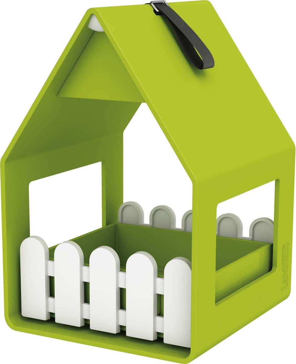 Кормушка для птиц Emsa Landhaus, цвет: салатовый, 14 х 21 х 15 см ящик балконный emsa landhaus цвет темно зеленый 50 х 20 х 16 см