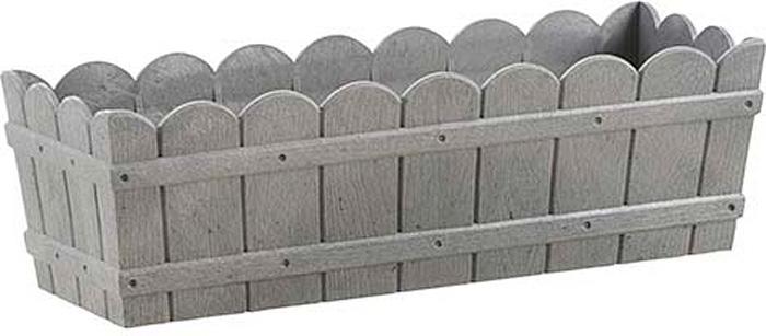 Ящик балконный Emsa Country, цвет: серый, 50 x 17 x 15 см ящик балконный emsa landhaus цвет темно зеленый 50 х 20 х 16 см
