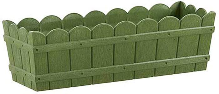 Ящик балконный Emsa Country, цвет: зеленый, 50 x 17 x 15 см ящик балконный emsa landhaus цвет темно зеленый 50 х 20 х 16 см