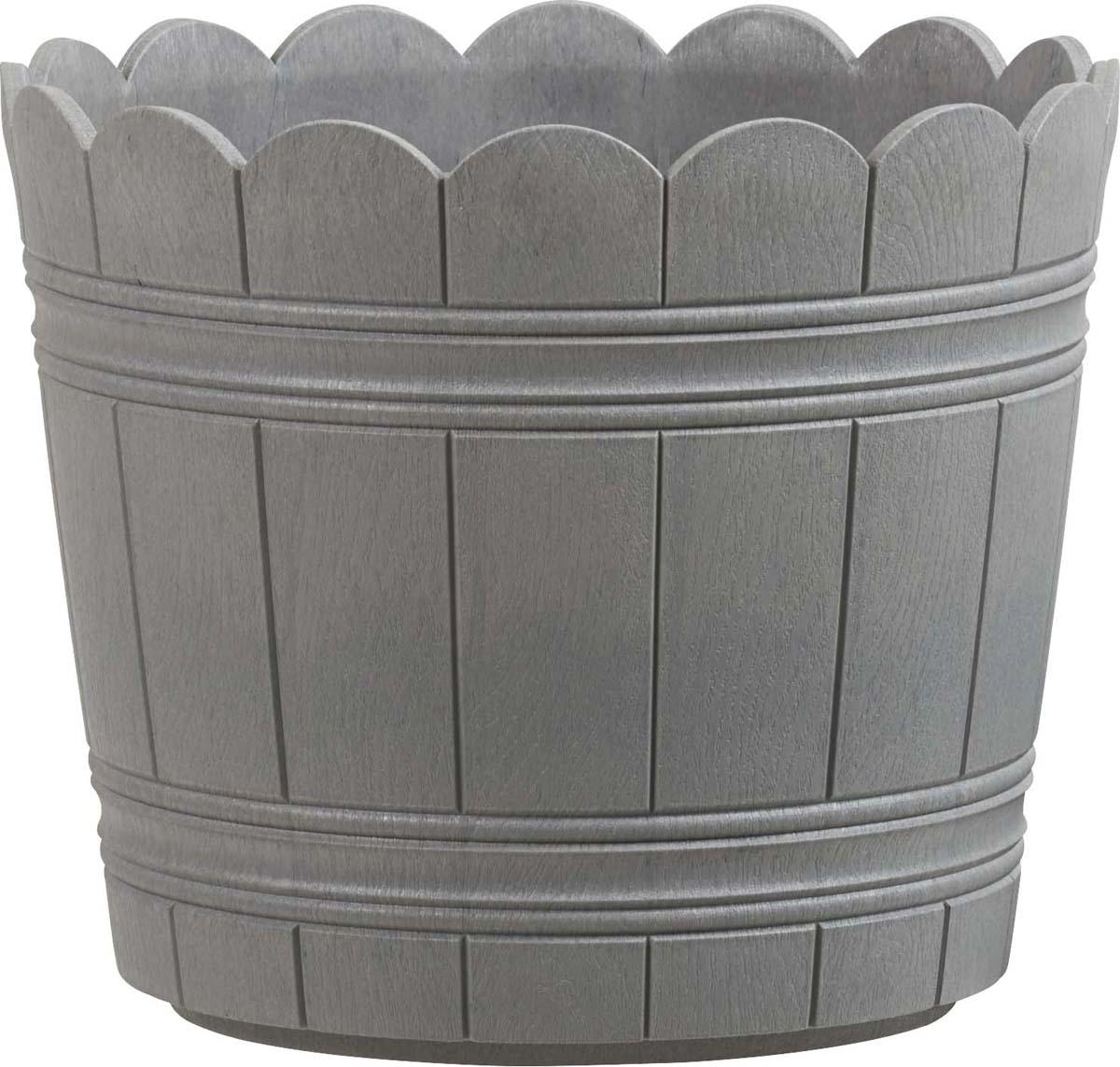 Кашпо Emsa Country, цвет: серый, диаметр 35 см emsa база балконного ящика mybox 50 см гранит 508843 emsa