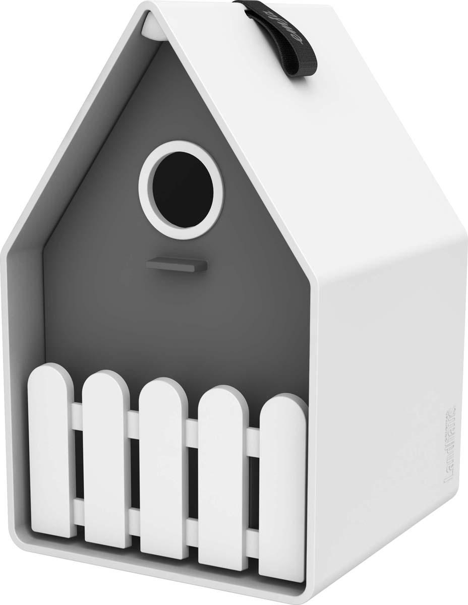 Скворечник Emsa Landhaus, цвет: серый, белый, 15 х 24 х 16 см ящик балконный emsa landhaus цвет темно зеленый 50 х 20 х 16 см