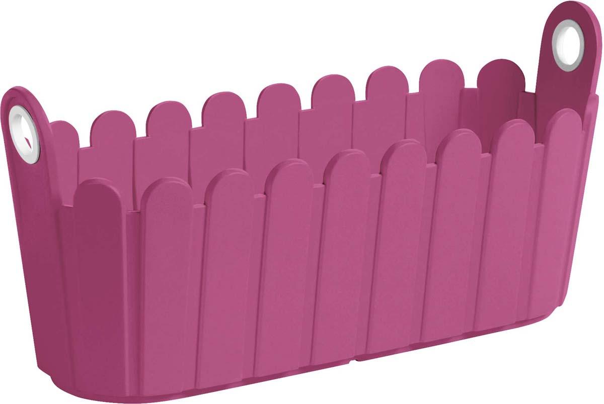 Кашпо Emsa Landhaus, цвет: ярко-розовый, 40 x 16 см ящик балконный emsa landhaus цвет темно зеленый 50 х 20 х 16 см
