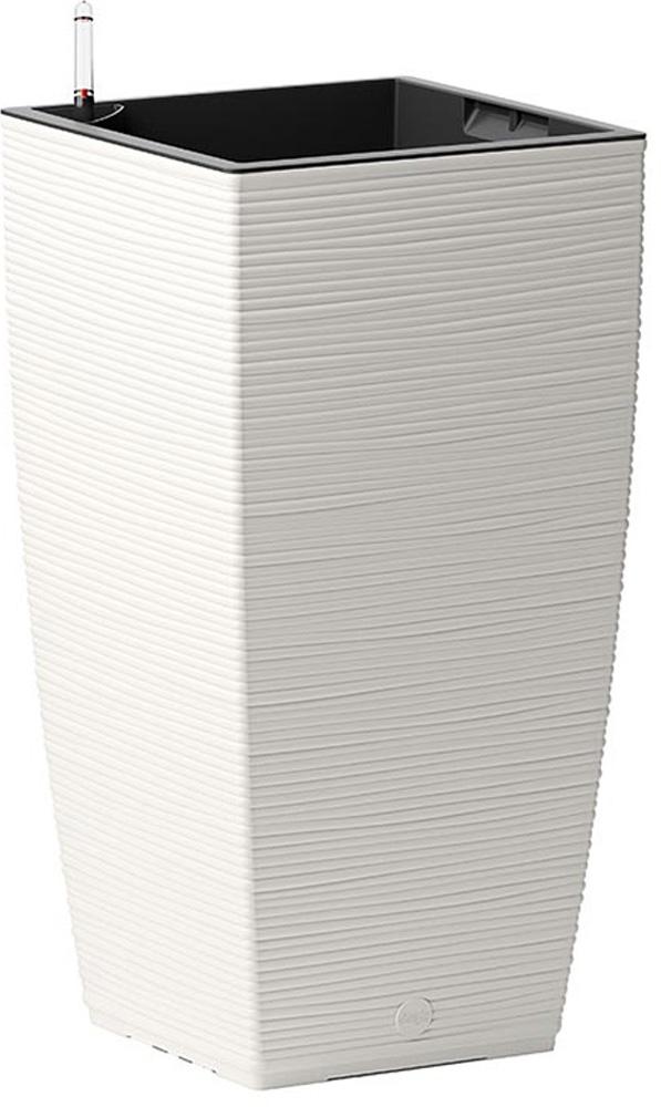 Кашпо Emsa Casa Cosy, с системой автополива, цвет: белый, 30 х 30 х 58 см cosy