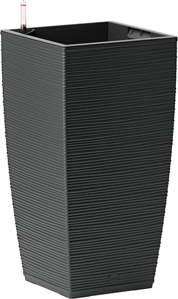 Кашпо Emsa Casa Cosy, с системой автополива, цвет: черный, 30 х 30 х 58 см cosy