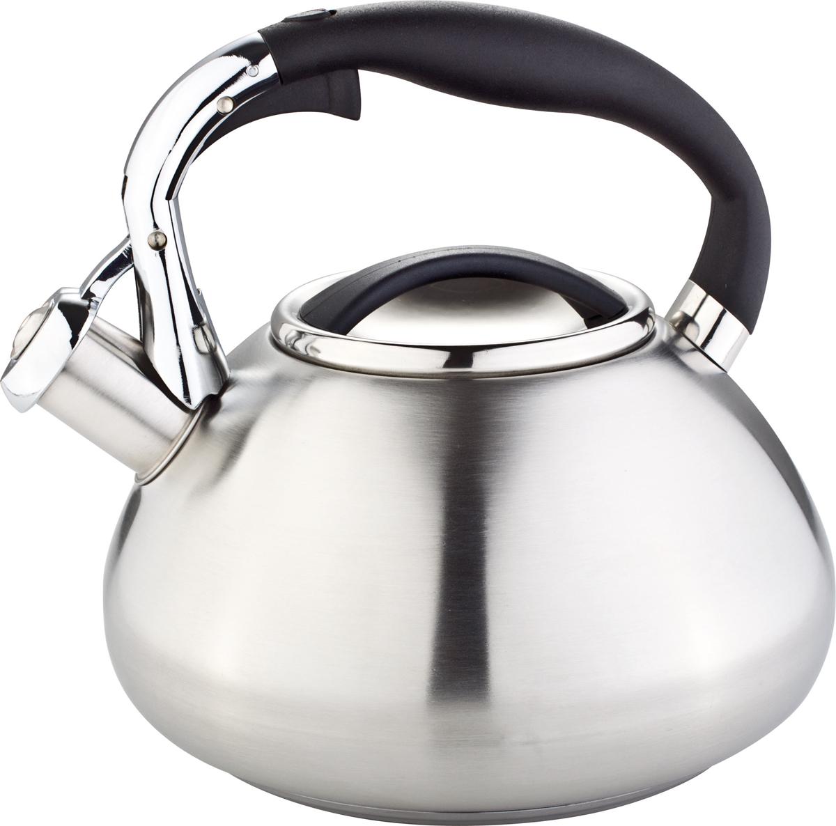 Чайник Rainstahl, со свистком, цвет: серебристый, 3 л. 7602-30RS\WK чайник rainstahl со свистком цвет белый 3 л 7540 30rs wk