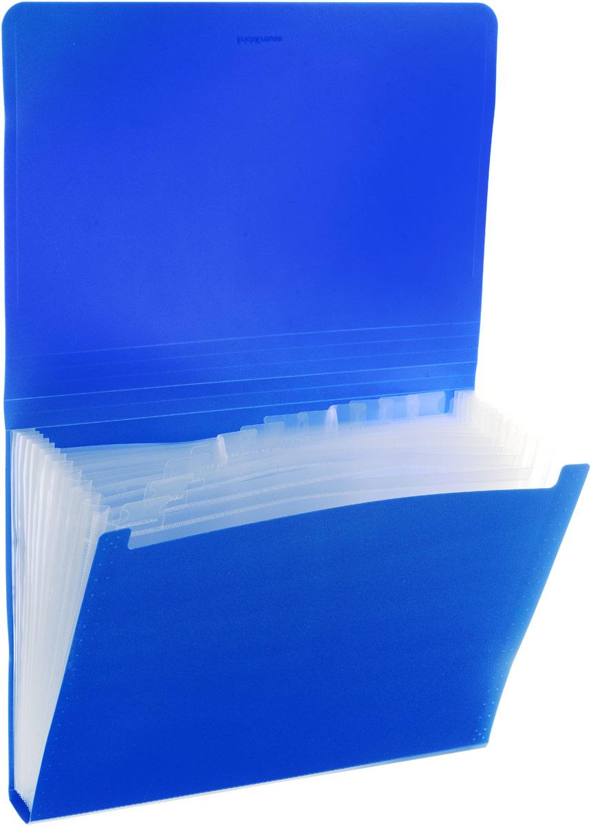 Папка-картотека ErichKrause Classic, с 12 отделениями, A4, синий ErichKrause