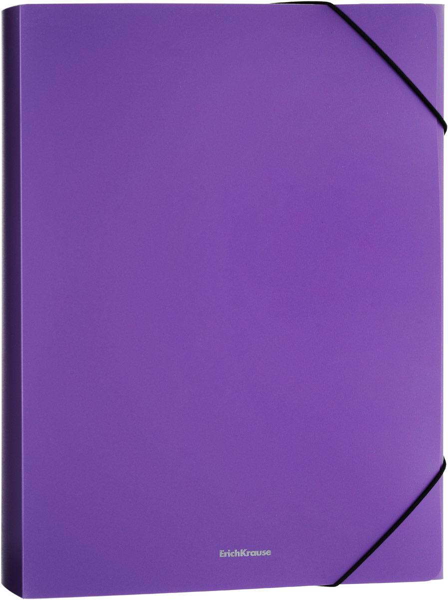 Папка на резинках ErichKrause Classic, 30 мм, A4, фиолетовый очиститель массажер языка дельтатерм лингва classic цвет фиолетовый