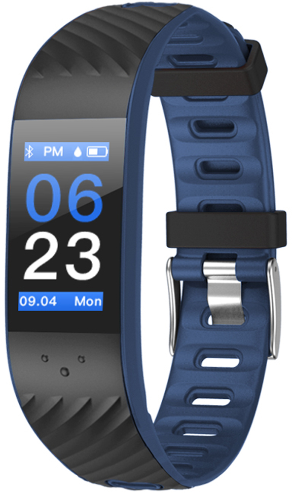 Фитнес-браслет Qumann QSB 12, темно-синий, черный фитнес браслет qumann qsb 12 синий черный