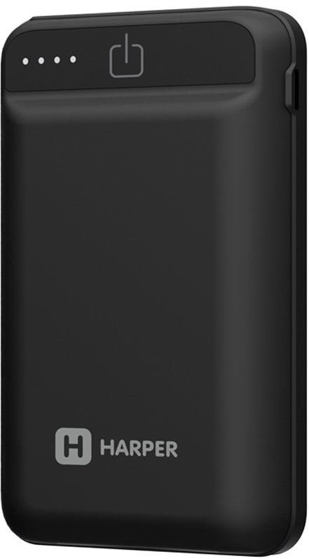 Harper PB-2612, Black внешний аккумулятор (12000 мАч) корд 2а