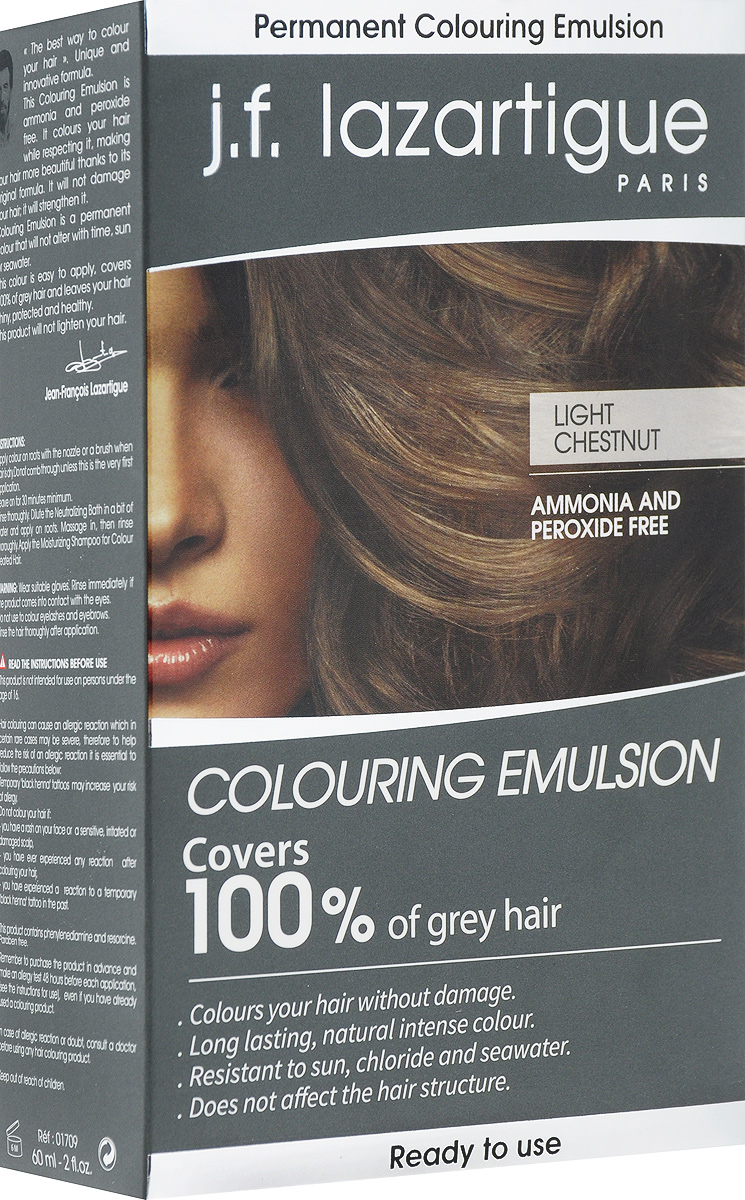 J.F.Lazartigue Оттеночная эмульсия для волос Светлый каштан 60 мл