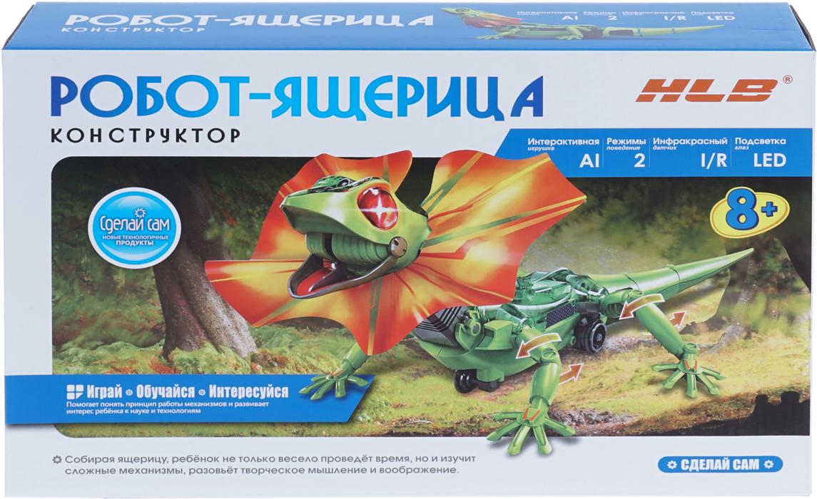 HLB Набор для опытов Робот-ящерица1CSC20003280Конструктор: Робот-ящерица В ящерицу встроен инфракрасный датчик, который запрограммирован так, чтобы активировать один из двух режимов игрушки: «Побег» и «Следуй за мной». Если вы выберете режим «Побег», ящерица тут же испугается. У нее загорятся глаза, а еще она расправит воротник на шее, раскрыв при этом рот. Так ящерица будет бегать до тех пор, пока не удалится на безопасное расстояние. Если рычаг на спине рептилии переключить в другое положение, включится режим «Следуй за мной». Тогда животное попытается напугать вас, подняв воротник, и будет следовать за вами, словно домашний питомец. Собирая интерактивную ящерицу, ребенок не только весело проведет время, но и разовьет творческое мышление и воображение. Комплектация: конструктор для сборки робота-ящерицы. Материал: Пластик Элементы питания: батарейки ААА (4шт), в комплект не входят.