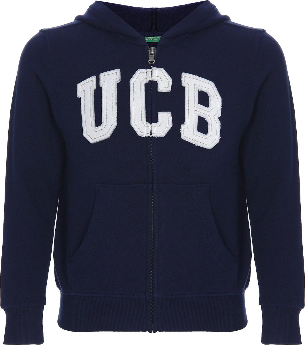 Толстовка для мальчика United Colors of Benetton, цвет: синий. 3J68C5139_13C. Размер 1203J68C5139_13C