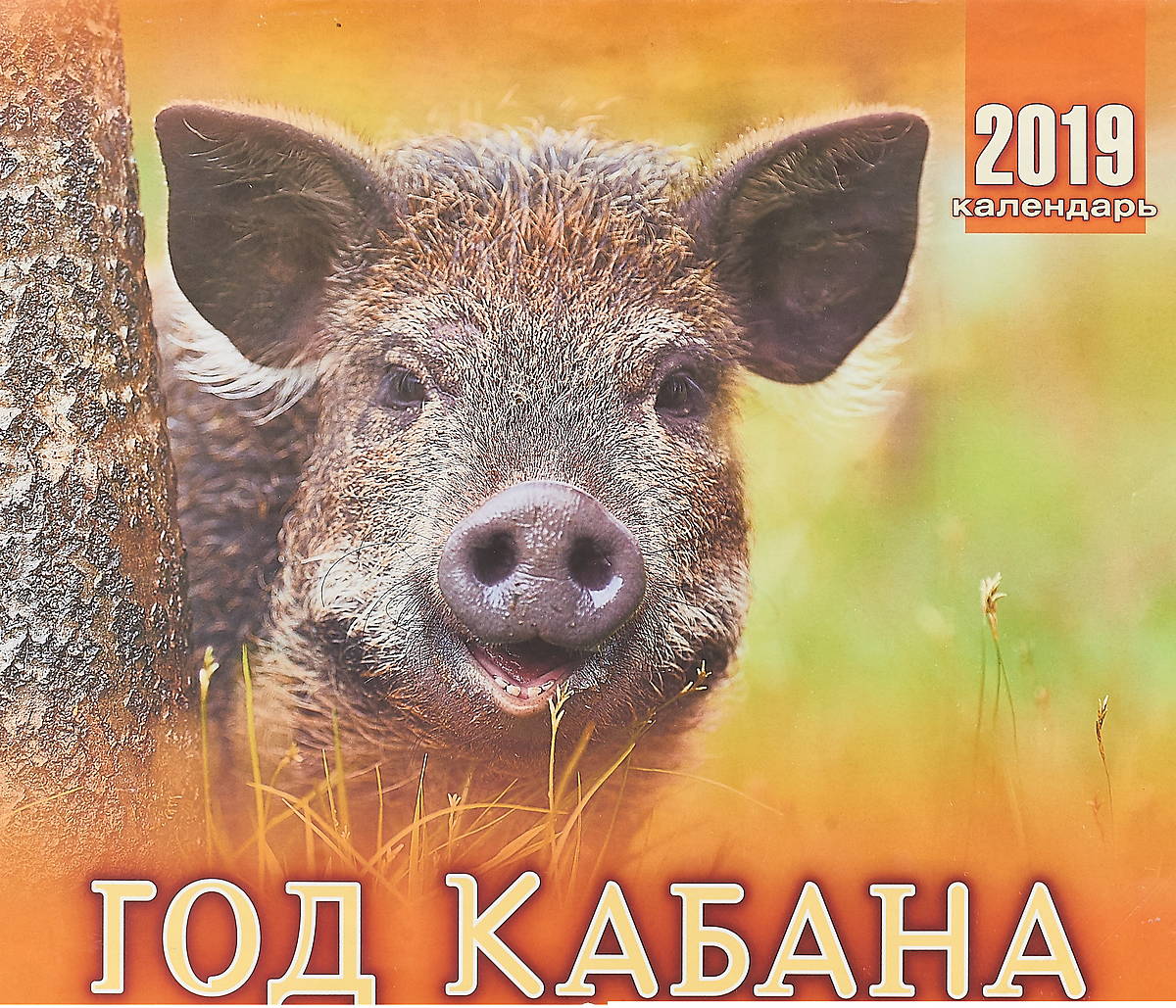 Календарь перекидной на 2019 год. Год кабана надувной матрас intex 188x71cm 59894
