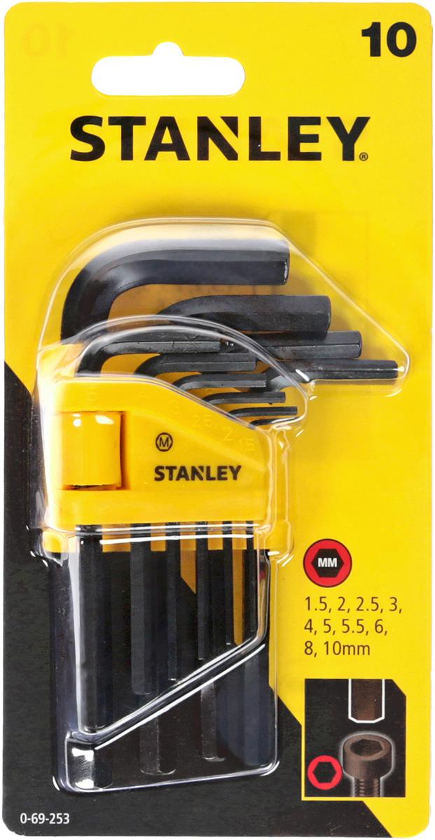 Набор шестигранных ключей Stanley, 1,5-10 мм, 10 шт цены