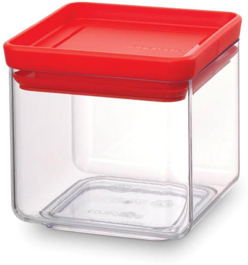 """Контейнер для сыпучих продуктов Brabantia """"Tasty Colors"""", цвет: прозрачный, красный, 700 мл. 290008"""