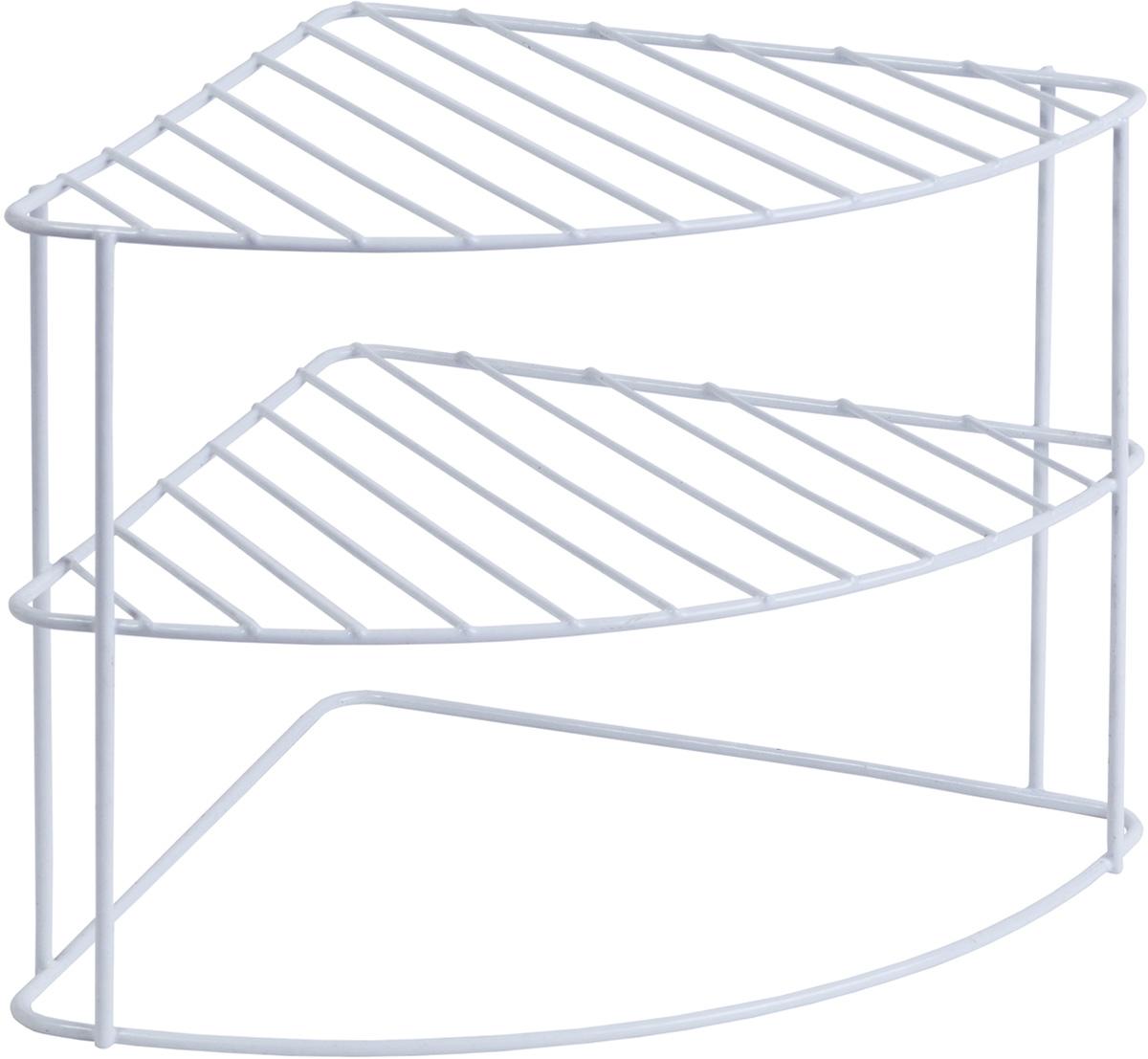 Полка-органайзер Tatkraft Level, трехуровневая, угловая, 23 х 22 х 23 см полка metaltex onda safe fix 2 уровневая угловая цвет серый 22 х 22 х 35 см