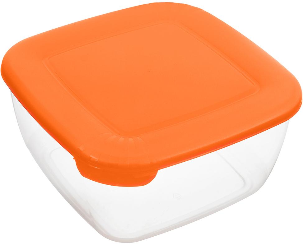 Контейнер Полимербыт Лайт, цвет: оранжевый, прозрачный, 2,5 л контейнер полимербыт лайт цвет голубой 3 л