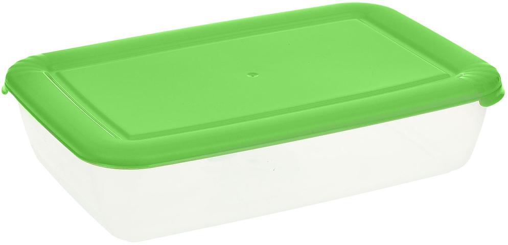 Контейнер Полимербыт Лайт, цвет: прозрачный, салатовый, 1,9 л контейнер полимербыт лайт цвет голубой 3 л