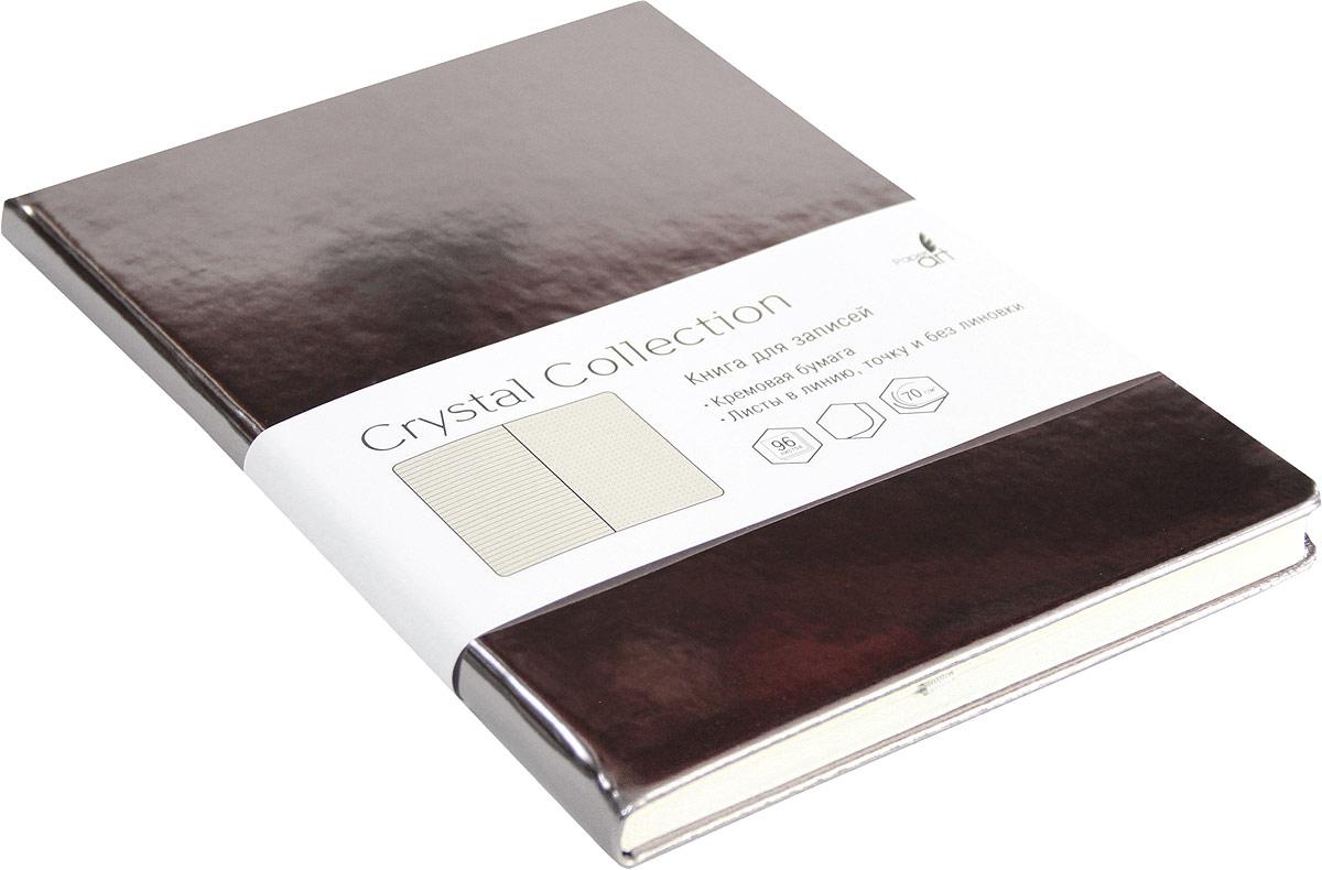 Listoff Записная книжка Crystal Collection цвет платиново-серый 96 листов КЗКК5962595 listoff записная книжка crystal collection цвет желто зеленый 96 листов кзкк5962599
