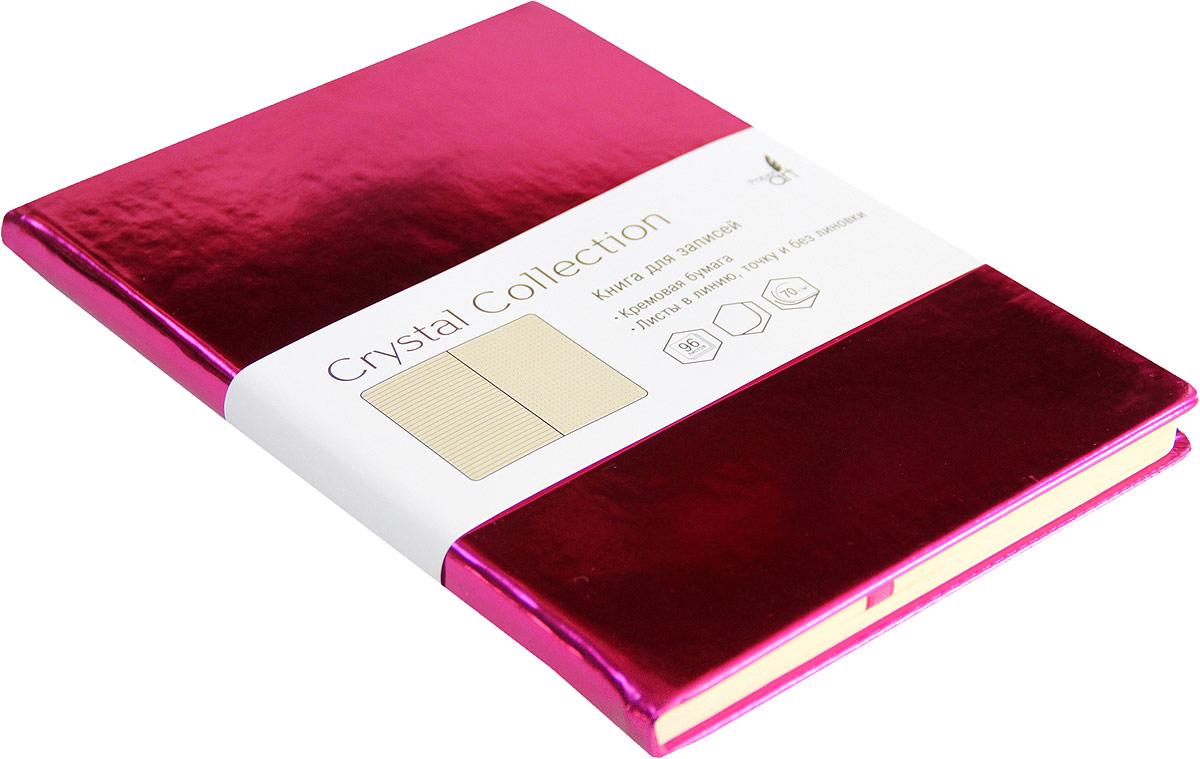 Listoff Записная книжка Crystal Collection цвет малиново-розовый 96 листов КЗКК5962597 listoff записная книжка crystal collection цвет желто зеленый 96 листов кзкк5962599