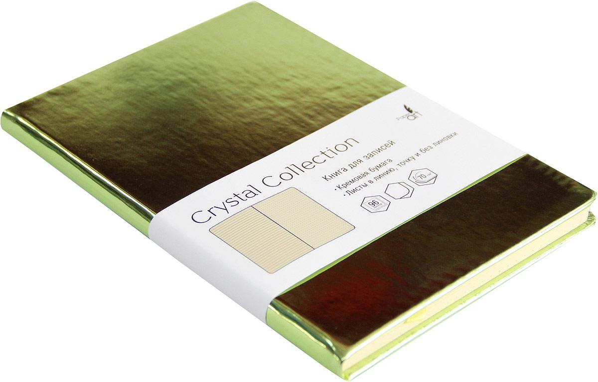 Listoff Записная книжка Crystal Collection цвет желто-зеленый 96 листов КЗКК5962599