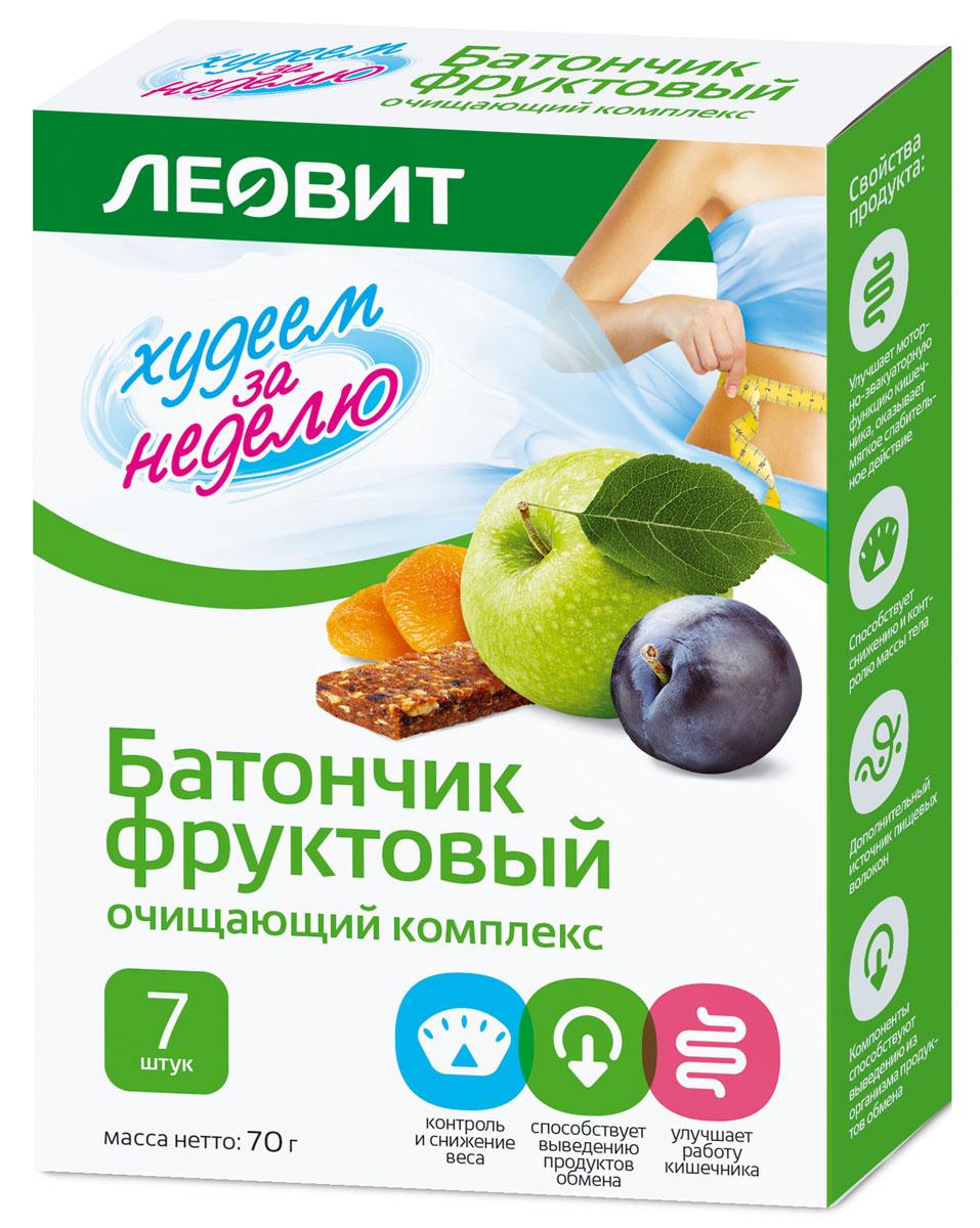 БиоСлимика Очищающий комплекс батончик фруктовый, 7 шт по 10 г леовит биослимика батончик овощной ризотто с томатом 25г