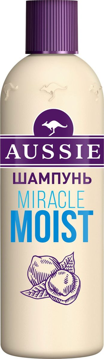 Aussie Шампунь Miracle Moist, для сухих и поврежденных волос, 300 мл british aussie miracle natural plant conditioner 250ml moisturizing aussie miracle moist conditioner for dry