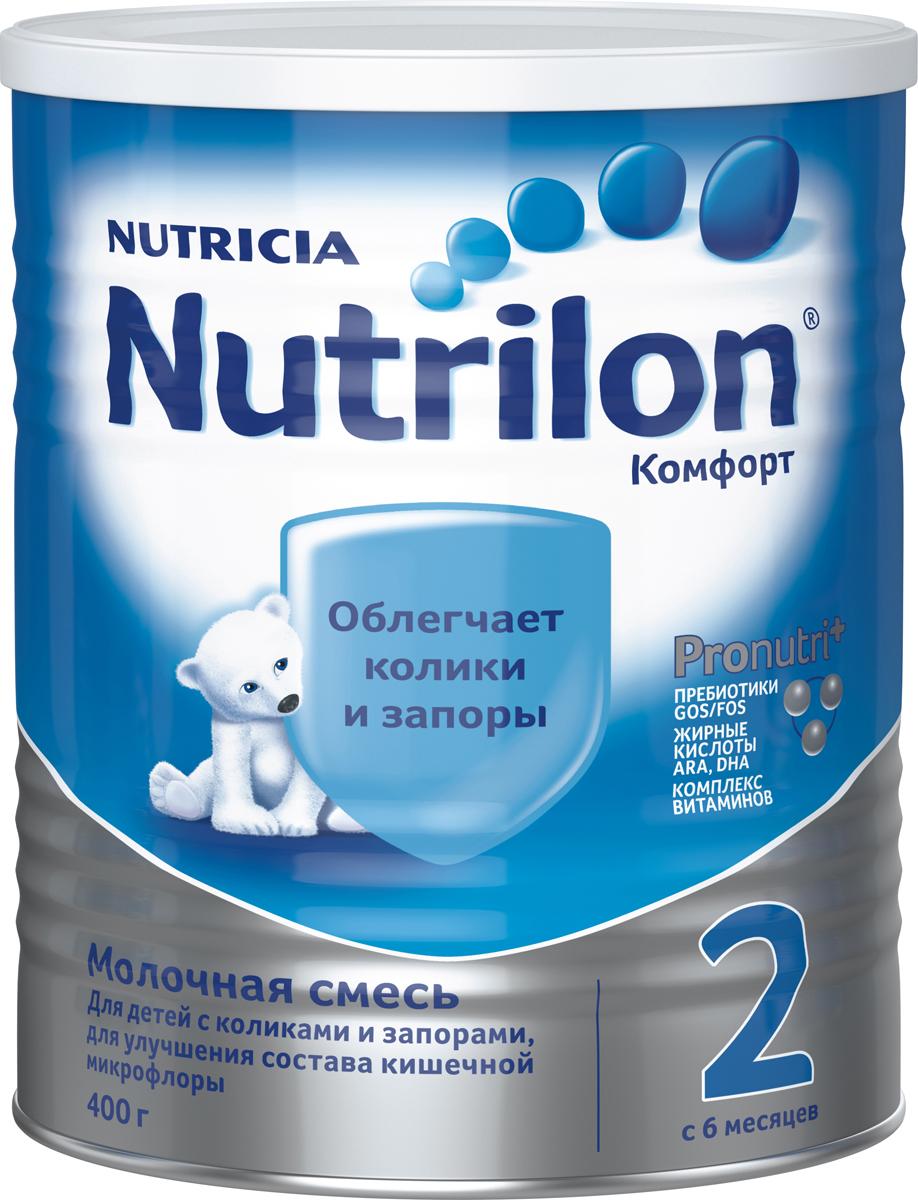 Nutrilon Комфорт 2 специальная молочная смесь PronutriPlus, с 6 месяцев, 400 г