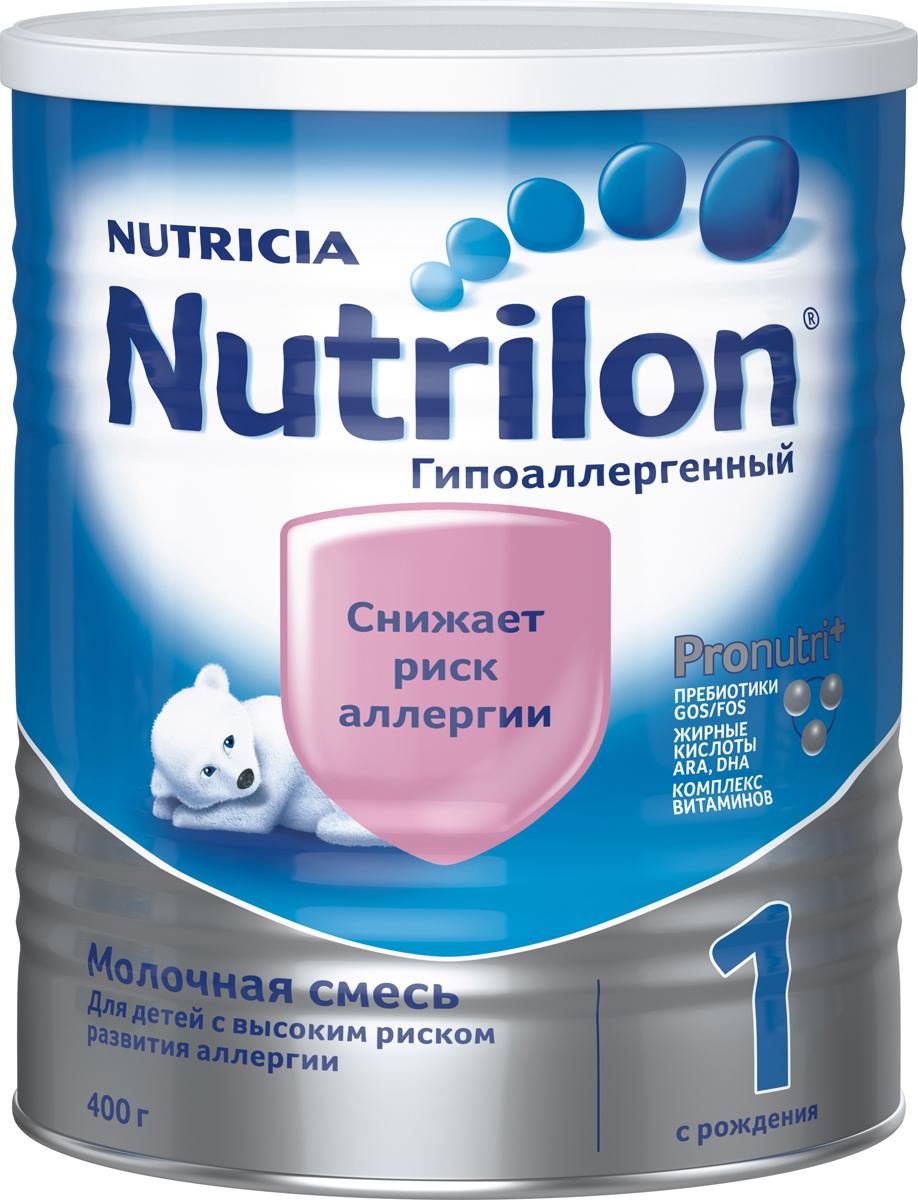 """Nutrilon ГА 1 специальная молочная смесь, гипоаллергенная """"PronutriPlus"""", с рождения, 400 г"""