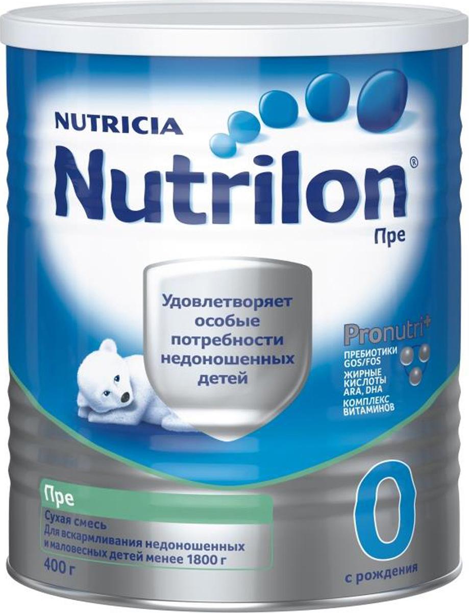 """Nutrilon Пре 0 специальная молочная смесь """"PronutriPlus"""" для недоношенных детей, с рождения, 400 г"""