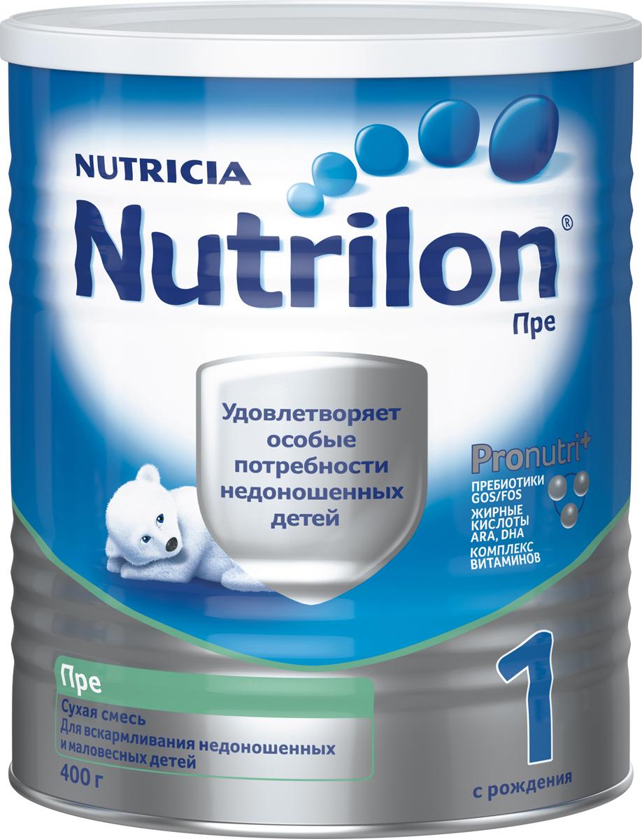 """Nutrilon Пре 1 специальная молочная смесь """"PronutriPlus"""" для недоношенных детей, с рождения, 400 г"""
