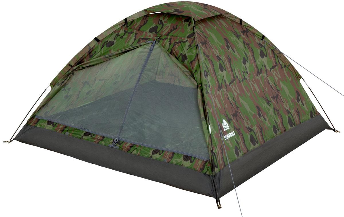 Палатка двухместная TREK PLANET Fisherman 2, цвет: камуфляж