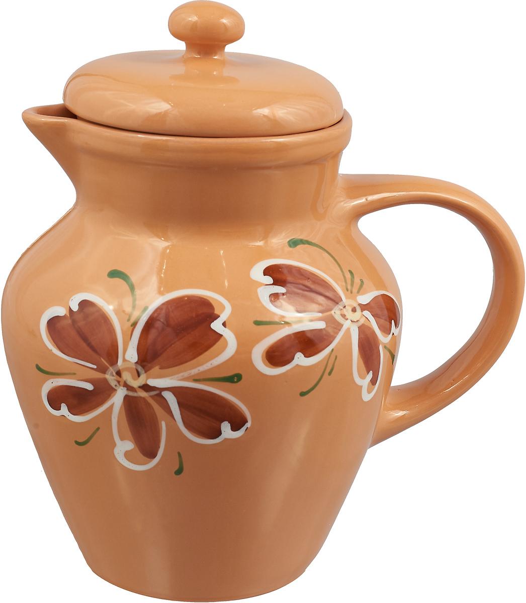 Кувшин Борисовская керамика Стандарт, с крышкой, цвет: бежевый, 1,7 л кувшин букингем 1л керамика