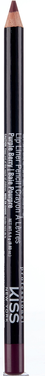 лучшая цена Kiss New York Professional Контурный карандаш для губ Lip Liner Pencil, Purple Berry, 1,1 г