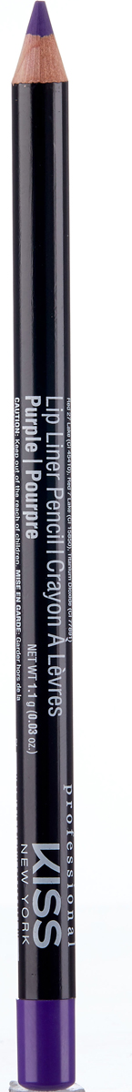 лучшая цена Kiss New York Professional Контурный карандаш для губ Lip Liner Pencil, Purple, 1,1 г