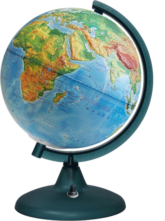 Глобус Глобусный мир, с физической картой мира, рельефный, со светодиодной подсветкой, диаметр 21 см глобус глобусный мир 10406 с физической картой мира с подставкой синий диаметр 64 см