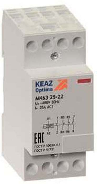 Контактор модульный КЭАЗ, OptiDin МК63 2522 230AC. 114118 altali для дома