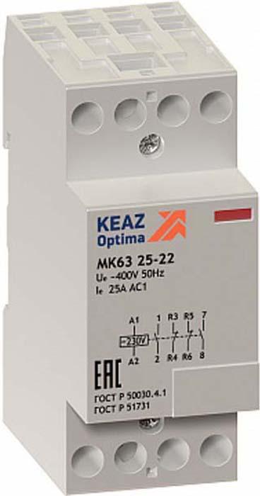 Контактор модульный КЭАЗ, OptiDin МК63 2540 230AC. 114095 цена