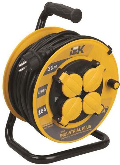 все цены на Удлинитель IEK Industrial Plus, на катушке, с заземлением, с термозащитой, 4 гнезда, 30 м. WKP15-16-04-30-44 онлайн