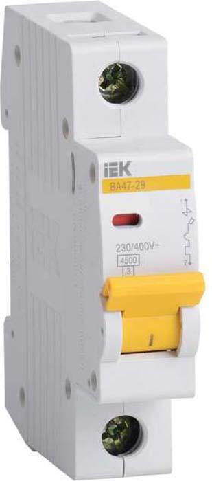 Выключатель автоматический модульный IEK, 1п B 4А 4.5кА ВА 47-29. MVA20-1-004-B цена