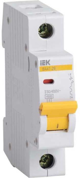 Выключатель автоматический модульный IEK, 1п C 1.6А 4.5кА ВА 47-29. MVA20-1-D16-C цена